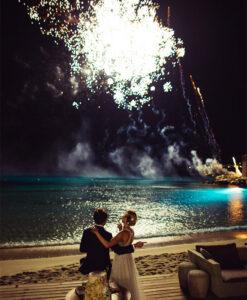 fireworks santorini
